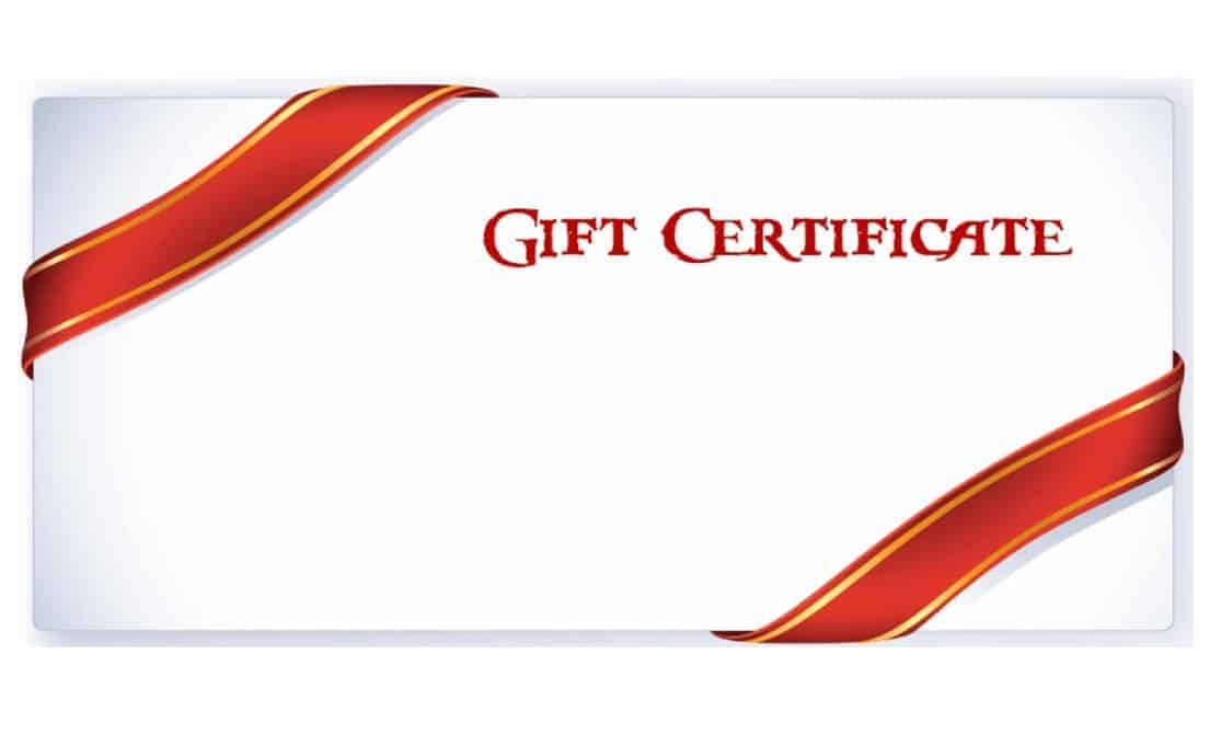 Gift Certificate Example on ThrivingLocally 02