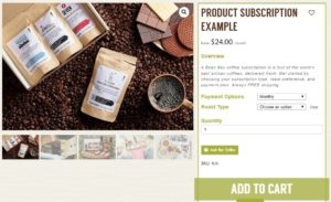 Subscription Example from ThrivingLocally Webstore